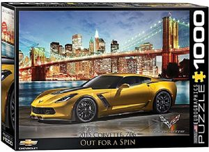 2015 Corvette Z06  Out For A Spin 1000 piece jigsaw puzzle  680mm x 490mm (pz)